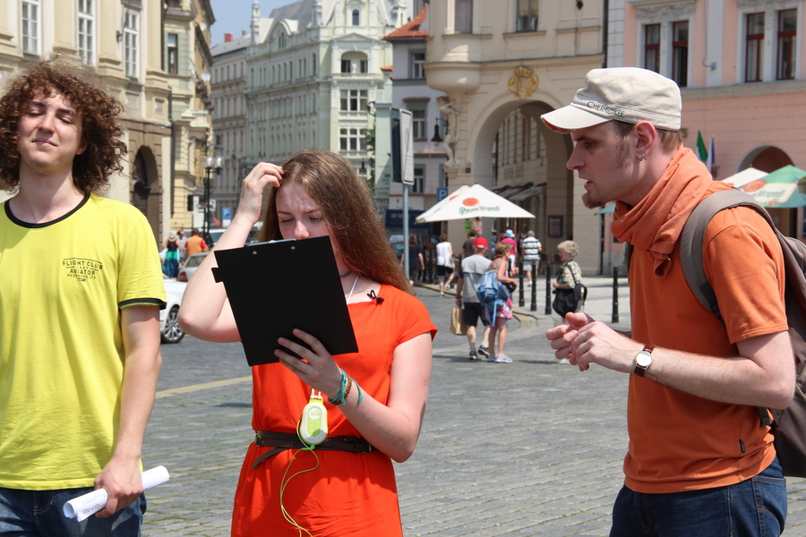 interactive GPS audiobook Electronic tour guide. The promo video filming.